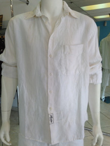 Claudio Milano Relaxed Linen Shirt White