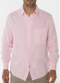 Claudio Milano Linen Relaxed Shirt 1005 Light pink