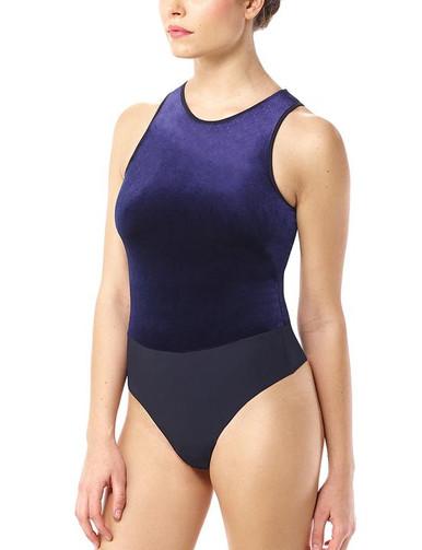 Commando Velvet Bodysuit Sapphire