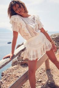 Love Shack Fancy Stella Dress Antique White