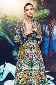 Camilla The Jungle Book Long Dress w Bell Sleeve