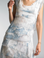 Tempo Paris 8906M Tie Dye Tiered Silk Dress Denim