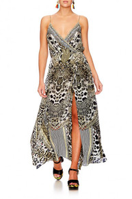 Camilla Animal Instinct Strappy Long Wrap Dress