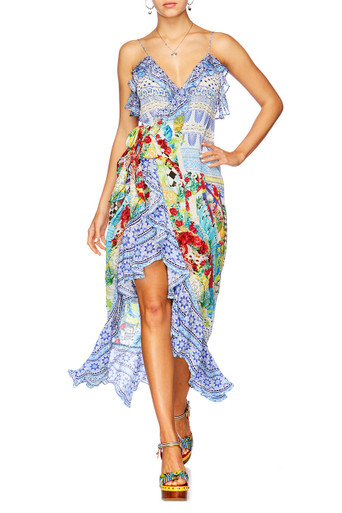 Camilla Masking Madness Frill Dress with Long Back