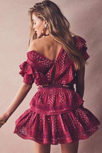 Love Shack Fancy Stella Dress Amour Ikat