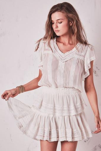 Love Shack Fancy Chelsey Dress White
