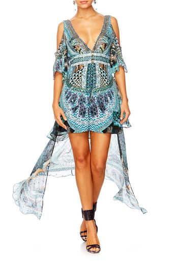 Camilla Turn On the Charm Peplem Overlay Short Dress