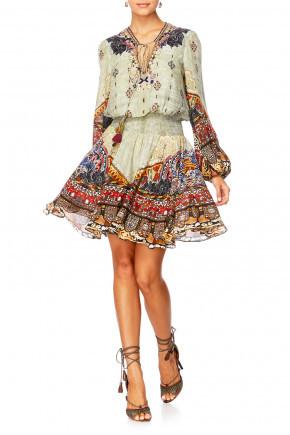 Camilla The Caravan Shirred Relaxed Short Dress