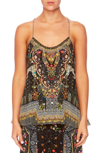 Camilla Behind Closed Doors T Back Shoestring Top