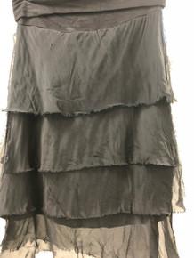 Tempo Paris 60899Q Short Silk Tiered Skirt Black