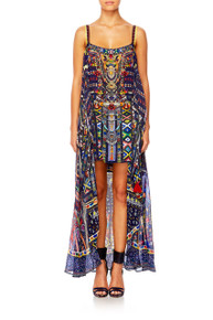 Camilla Where You'll Find Me Mini Dress with Long Overlay
