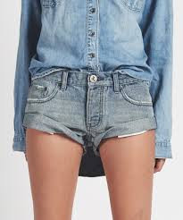 One Teaspoon Cutoff Shorts Bandits Blue Storm
