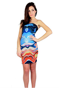 Letube Mare Blu Convertible Tube Dress