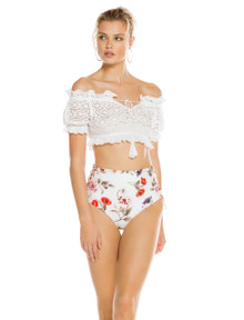 2019 Agua Bendita Jasmine Collection  Layla Crop Top