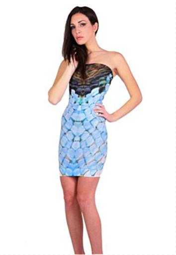 Letube Vogue Animalier Convertible Tube Dress