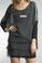 Tempo Paris 1478M Silk Sequence Shoulder Tunic Gray