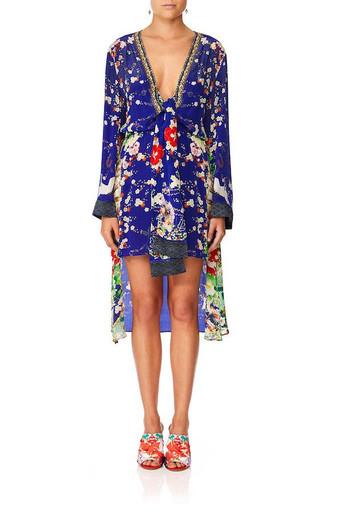 Camilla Maikos Midnight Tie Detail Short Dress