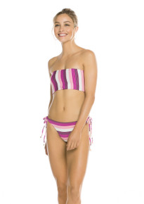 2019 Agua Bendita Wisteria Palette Georgina Tamy Bikini Set Striped Purple
