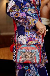 Camilla Leopard with Love Saffiano Cross Body Bag