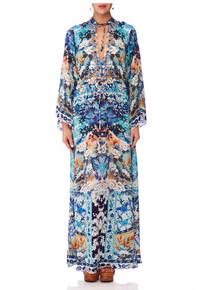 Camilla Tokyo Tribe Drawstring Button Up Dress