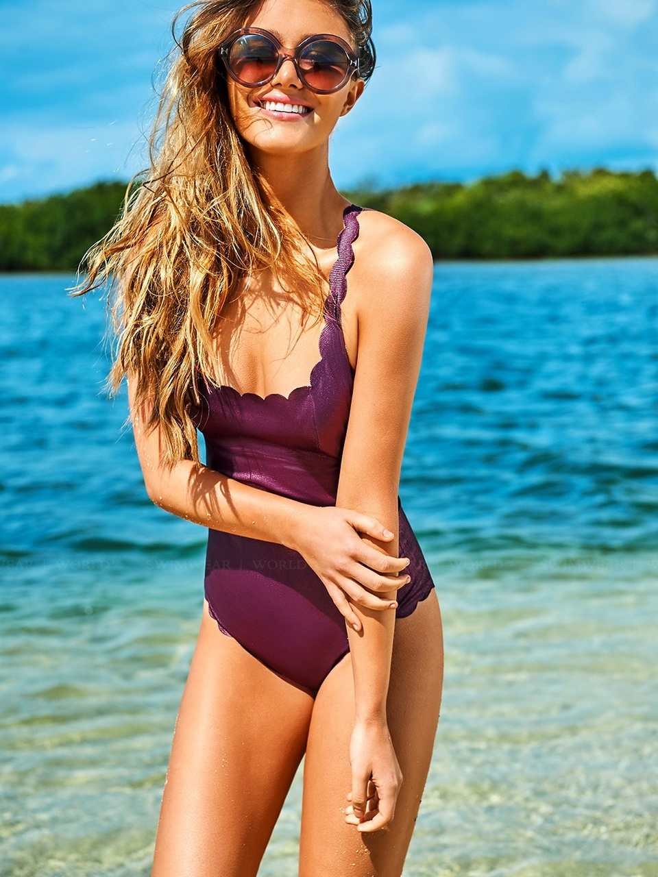 d698dbdbaf686 PilyQ Plume Reversible Seamless Wave Gwen One Piece Swimsuit. See 3 more  pictures