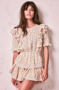 Love Shack Fancy Natasha Dress Parchment