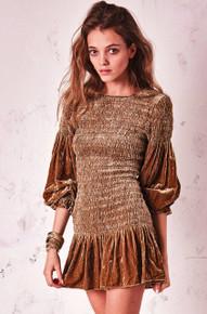 Love Shack Fancy Scarlet Mini Dress Cypress