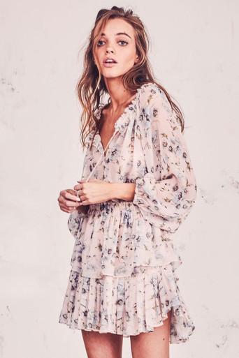 Love Shack Fancy Popover Dress Gossamer Pink