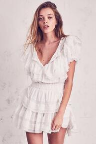 Love Shack Fancy Liv Dress Antique White