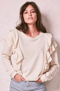 Love Shack Fancy Melanie Sweatshirt Natural