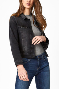 Mavi Samantha Denim Jacket Dark Smoke Super Soft