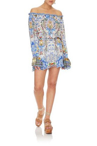 Camilla Drop Shoulder Frill Playsuit Geisha Gateways