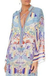 Camilla Drawstring Button Up Dress Girl in the Kimono