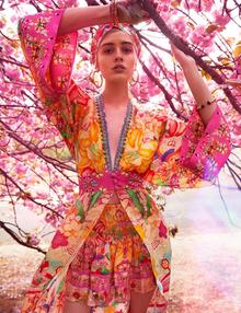 Camilla Robe with Elastic Back Waist Kimono Kisses