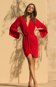 MISA Los Angeles Teget Mini Dress Red