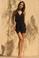 MISA Los Angeles Domino Mini Dress Black