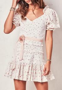 Love Shack Fancy Tina Dress Whisper