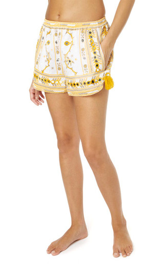 Juliet Dunn London Tribal Shorts Mustard