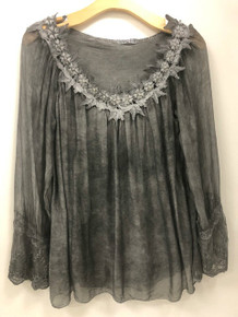 Tempo Paris Silk Top 816J Charcoal