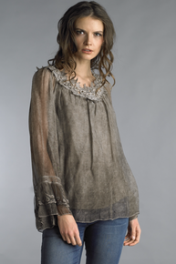 Tempo Paris Silk Top 816J TAUPE