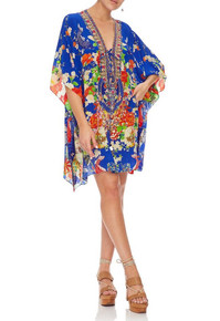Camilla Short Lace Up Caftan Playing Koi