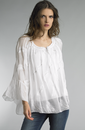 Tempo Paris 10617L Silk Feather Top