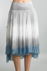 Tempo Paris Tie Dye Sequence 24970SH Skirt Denim