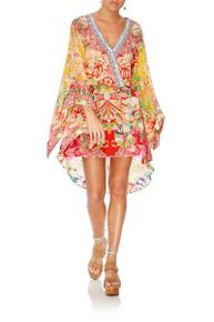 Camilla V Neck Kimono Dress with Tie Kimono Kisses