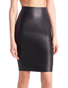 Commando Faux Leather Pencil Skort Black