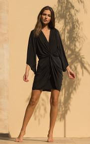 MISA Los Angeles Teget Mini Dress Black