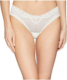 Commando Perfect Stretch Lace Thong Ivory