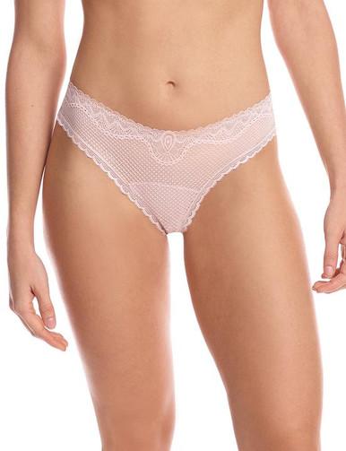 Commando Perfect Stretch Lace Thong Blush