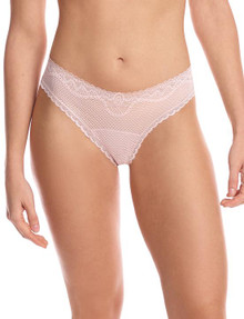 Commando Perfect Stretch Lace Thong Blush