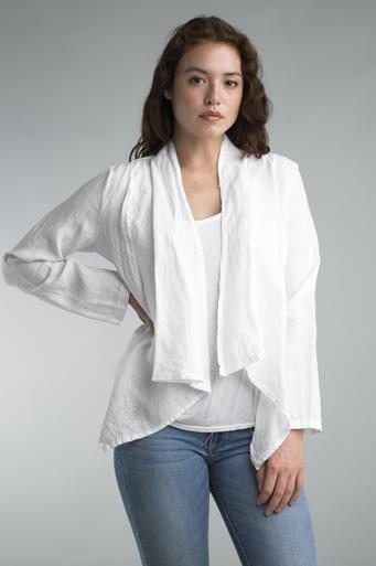 Tempo Paris Linen Jacket 192H White